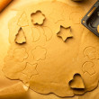 Closeup of gingerbread cookies for Christmas — Stock Photo #17101143