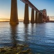 Stock Photo: River and Forth Road Bridge at sunset