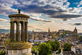 View from Calton Hill in sunny day — 图库照片
