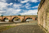 Old bridge over river Tweed in Scotland — Stock Photo