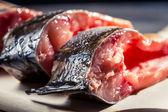 Primo piano sulla carpa salate fresche — Foto Stock