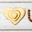 Royalty-Free Stock Photo: I love you sentence arranged with cookies and nuts no. 1