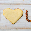 """I love you"" sentence arranged with cookies and nuts no. 8 — Stock Photo #18293625"