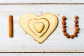 """I love you"" sentence arranged with cookies and nuts no. 1 — Stock Photo"