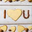 """I love you"" sentence arranged with cookies and nuts no. 10 — Stock Photo #18307885"