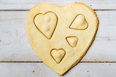 Shape of heart baked in a sweet cookie no. 2 — Stock Photo