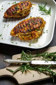 Roasted chicken breast with rosemary — Stock Photo