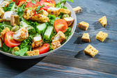 Closeup of healthy salad made ​​of fresh vegetables — Stock Photo