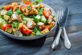 Closeup of healthy salad made of fresh vegetables — Stock Photo