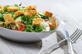 Closeup of salad with vegetables — Stock Photo