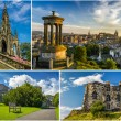 Stock Photo: Postcard from sunny Edinburgh in summer