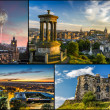 Postcard from Edinburgh in summer — Stock Photo