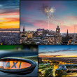 Postcard from Edinburgh at night — Stock Photo