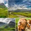 Postcard from the mountains of Scotland in summer — Stock Photo
