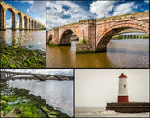 Postcard from Berwick-upon-Tweed — Stock Photo