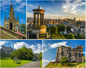 Postcard from sunny Edinburgh in summer — Stock Photo