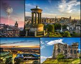 Postcard from Edinburgh in summer — Stock Photo