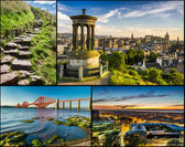 Postcard from sunny Scotland in summer — Stock Photo