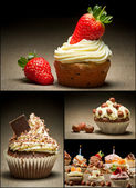 Collage di diversi tipi di muffin n ° 1 — Foto Stock