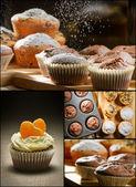 Collage av olika typer av muffins nr 2 — Stockfoto