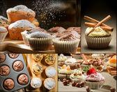 Koláž různých typů muffiny č. 3 — Stock fotografie