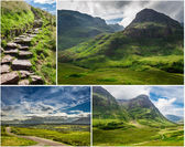 Postcard from the mountains of Scotland — Stock Photo