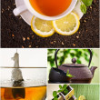 Collage of healthy green tea no. 3 — Stock Photo