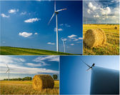 Poster of windmills as a green energy — Stock Photo