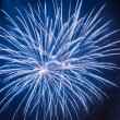 Blue fireworks during celebrations event at night — Stock Photo #19031333