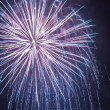 Big fireworks during celebrations at night — Stock Photo #19031937