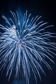 White fireworks during the celebrations — Stock Photo