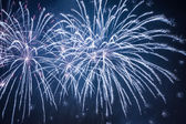 Bug fireworks during the celebrations at night — Stock Photo