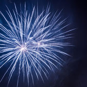Big night fireworks during the celebrations event at night — Stock Photo