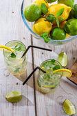 Zimny napój z owoców cytrusowych — Zdjęcie stockowe