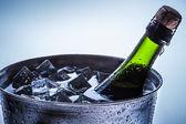 Záběr z oslav chlazeného šampaňského — Stock fotografie