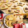 Homemade gingerbread cookies for Christmas — Stock Photo #21587861