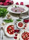 Borscht soup — Stock Photo