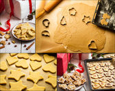 Gingerbread cookies for Christmas — Foto Stock