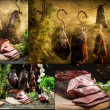Stock Photo: Rural smokehouse with homemade ham