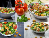 Healthy salad with chicken and fresh vegetables — Stockfoto