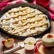 Apple pie with fresh chopped apples — Stock Photo
