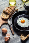 Fresh egg for breakfast in the countryside — Stock Photo