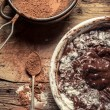 Preparations for making homemade chocolate with nuts — Stock Photo #23539275