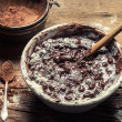 Homemade chocolate with nuts — Stock Photo