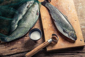 Freshly caught fish for dinner — Stock Photo