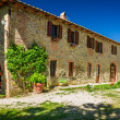 Stock Photo: Tuscany Rural house in summer, Italy