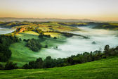 Foggy Valley in the morning, Tuscany — Stock Photo