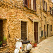 Vespa on a small street in the old town, Italy — Stock Photo