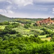 Small town on a hill in Tuscany — Stock Photo