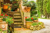 Beautiful decorated entrance to a house in the countryside, Ital — Stock Photo